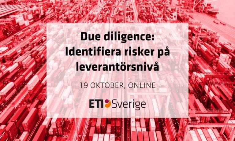 Due diligence: Identifiera risker på leverantörsnivå