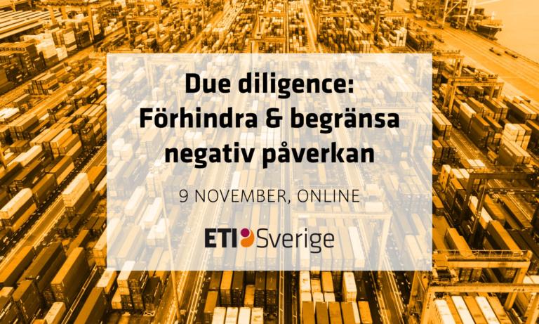 Due diligence: Förhindra och begränsa negativ påverkan på människor och miljö